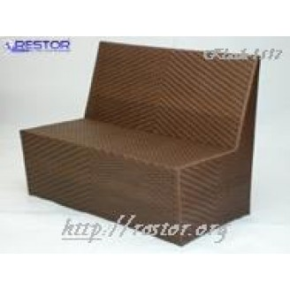 Плетёный диван Klasik-1517 модульный, Техноротанг, Искусственный ротанг, Всесезонный, для ресторана, кафе, бара, летней площадки, террассы....