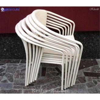 Плетёное кресло Klasik-1501, Блюз, Техноротанг (Искусственный ротанг), Всесезонное, для летней площадки, террассы....