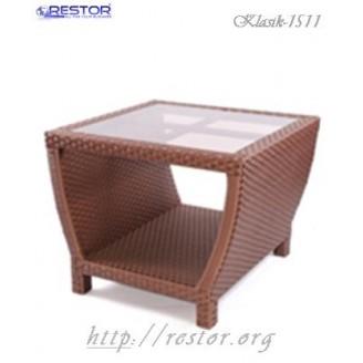 Плетёный столик журнальный Klasik-1511, Техноротанг (Искусственный ротанг), Всесезонная мебель, для летней площадки, террассы....