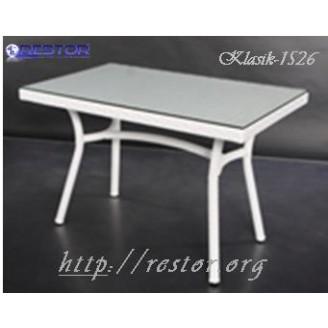 Плетёный стол Klasik-1526, Техноротанг (Искусственный ротанг), Всесезонная мебель, для летней площадки, террассы....