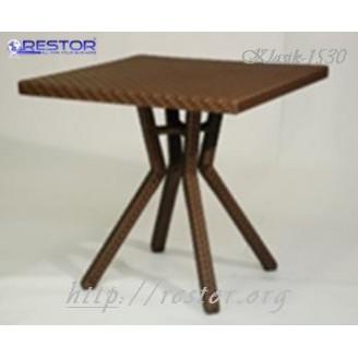 Плетёный стол Klasik-1530, Техноротанг (Искусственный ротанг), Всесезонная мебель, для летней площадки, террассы....