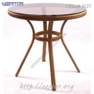 Плетёный стол Klasik-1531, Техноротанг (Искусственный ротанг), Всесезонная мебель, для летней площадки, террассы....