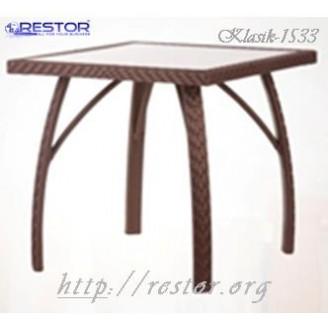 Плетёный стол Klasik-1533, Техноротанг (Искусственный ротанг), Всесезонная мебель, для летней площадки, террассы....