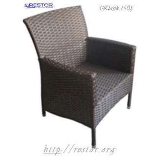 Плетёное кресло Klasik-1505, Техноротанг (Искусственный ротанг), Всесезонное, для летней площадки, террассы....