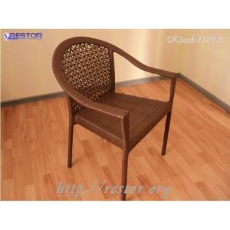 Плетёное кресло Klasik-1501.1, Техноротанг (Искусственный ротанг), Всесезонное, для летней площадки, террассы....