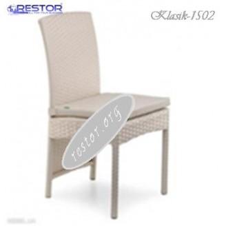 Плетёный стул Klasik-1502, Техноротанг (Искусственный ротанг), Всесезонная мебель, для летней площадки, террассы....