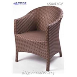 Плетёное кресло Klasik-1509, Техноротанг (Искусственный ротанг), Всесезонное, для летней площадки, террассы....