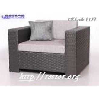 Плетёный диван Klasik-1519 модульный, Техноротанг, Искусственный ротанг, Всесезонный, для ресторана, кафе, бара, летней площадки, террассы....