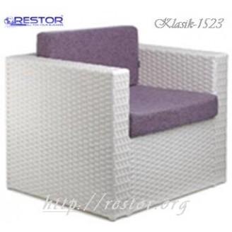 Плетёное кресло Klasik-1523.1, Техноротанг (Искусственный ротанг), Всесезонное, для кафе,бара,ресторана, летней площадки, отеля, террассы....