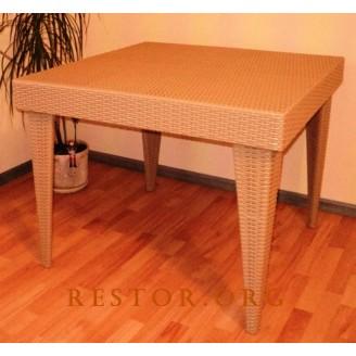 Плетёный стол разборной Klasik-1529.1, Техноротанг (Искусственный ротанг), Всесезонная мебель, для летней площадки, террассы....