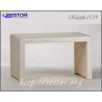 Плетёный столик журнальный Klasik-1534, Техноротанг (Искусственный ротанг), Всесезонная мебель, для летней площадки, террассы....