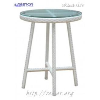 Плетёный стул Klasik-1536, Техноротанг (Искусственный ротанг), Всесезонная мебель, для летней площадки, террассы....