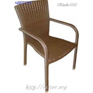 Плетёное кресло Klasik-1503, Палермо Техноротанг (Искусственный ротанг), Всесезонное, для летней площадки, террассы....
