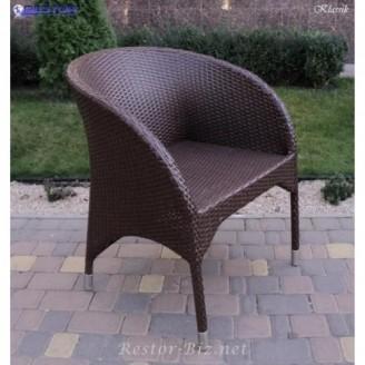 Плетёное кресло Klasik-1507 Монтана, Техноротанг (Искусственный ротанг), Всесезонное, для летней площадки, террассы....