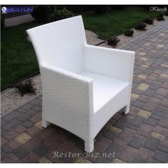 Плетёное кресло Klasik-1506, Техноротанг (Искусственный ротанг), Всесезонное, для летней площадки, террассы....