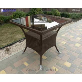Плетёный стол Klasik-1508, Техноротанг (Искусственный ротанг), Всесезонная мебель, для летней площадки, террассы....