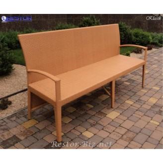 Плетёный диван Klasik-1513, Техноротанг (Искусственный ротанг), Всесезонный, для летней площадки, террассы....