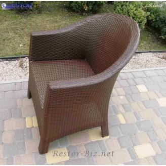 Плетёное кресло Klasik-1514, Техноротанг (Искусственный ротанг), Всесезонное, для кафе,бара,ресторана, летней площадки, отеля, террассы....