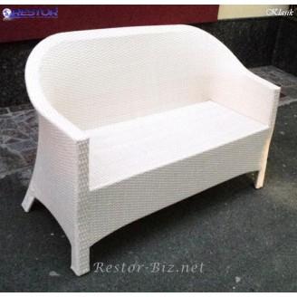 Плетёный диван Klasik-1515, Техноротанг (Искусственный ротанг), Всесезонный, для летней площадки, террассы....