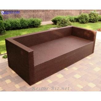 Плетёный диван Klasik-1520 модульный, Техноротанг, Искусственный ротанг, Всесезонный, для ресторана, кафе, бара, летней площадки, террассы....