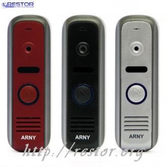 Видеопанель Restor ® AVP-NG110 Arny (700твл) Black, Silver, Red, цветная вызывная панель новинка 2015 года серии New Generation