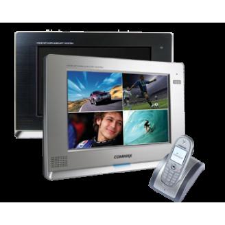 Видеодомофон CDV-1020AQ, Commax, цветной, Restor®, 10 дюймов, Hands Free, встроенный квадратор, четыре канала видео