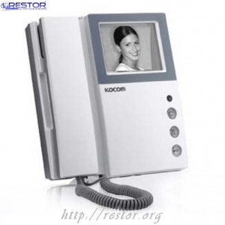 Видеодомофон KVM-301, Kocom, чёрно-белый, Restor®