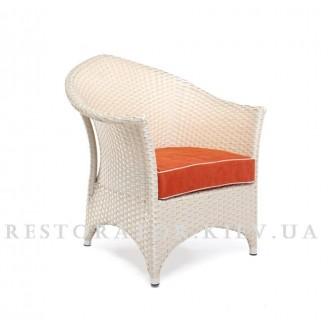 Кресло плетеное из полиротанга Марокко лаундж (классическое плетение) - Restor®