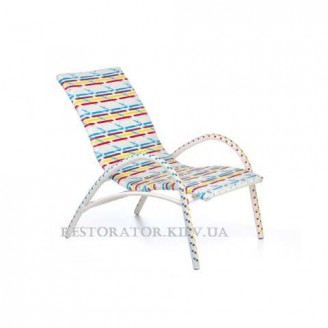 Кресло плетеное из полиротанга Аризона разноцветное - Restor®
