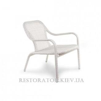 Кресло плетеное из полиротанга Лэйзи низкое - Restor®