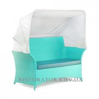 Диван плетеный из полиротанга Патио с тентом - Restor®