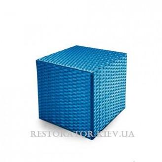 Пуф плетеный из полиротанга Куб - Restor®