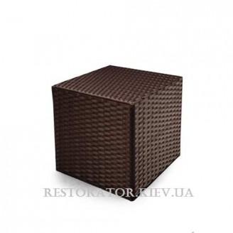 Пуф плетеный из полиротанга Куб 600 - Restor®