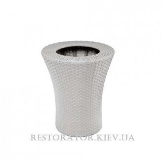 Цветник плетеный из полиротанга Конусный д. 500 - Restor®