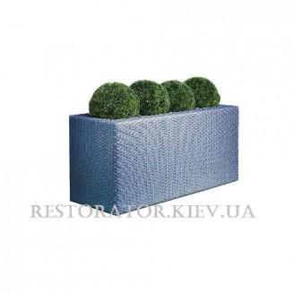 Цветник плетеный из полиротанга Мартин 4 вазона - Restor®