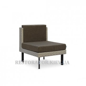 Кресло плетеное из полиротанга Тетрис без подлокотников - Restor®