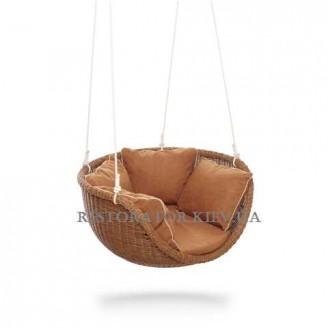 Кресло плетеное из ротанга Невада-М подвесное - Restor®