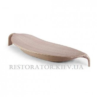 Шезлонг плетеный из полиротанга Лист - Restor®