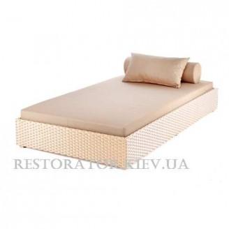 Лежак плетеный из полиротанга Квадро - Restor®