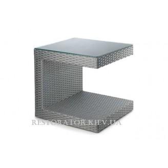 Стол плетеный из полиротанга Гранд С- образный HPL - Restor®