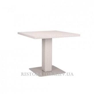 Стол плетеный из полиротанга Мартин 800 HPL - Restor®