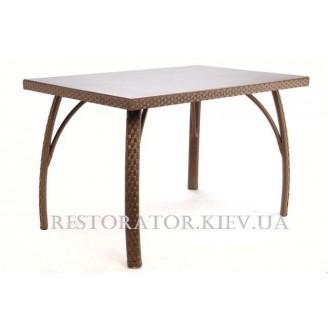 Стол плетеный из полиротанга Палермо прямоугольный HPL - Restor®