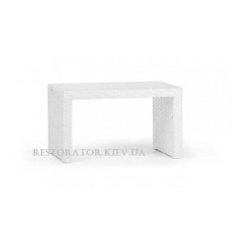 Стол плетеный из полиротанга Аризона - М 600 прозрачное стекло - Restor®