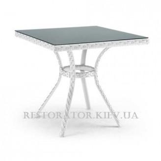 Стол плетеный из полиротанга Блюз квадратный 700 HPL - Restor®