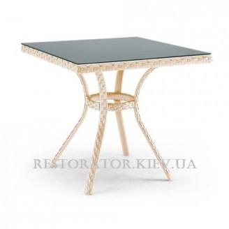 Стол плетеный из полиротанга Блюз квадратный 700 - Restor®