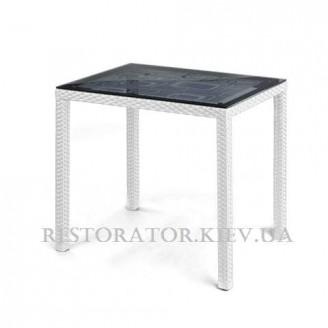 Стол плетеный из полиротанга Галант - К прозрачное стекло - Restor®