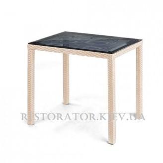 Стол плетеный из полиротанга Галант - К 900 HPL- Restor®