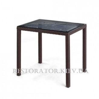 Стол плетеный из полиротанга Галант - К 800 аппликация - Restor®