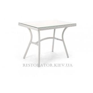 Стол плетеный из полиротанга Глэм стекло бронза 6 мм - Restor®