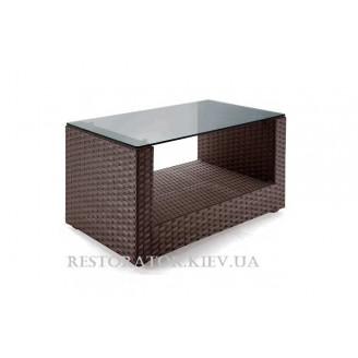 Стол плетеный из полиротанга Гранд U - образный HPL - Restor®